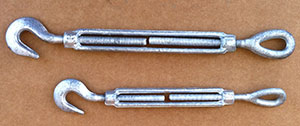 Galvanized Hook and Eye Turnbuckle