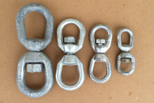 Galvanized H.D. Eye to Eye Swivels