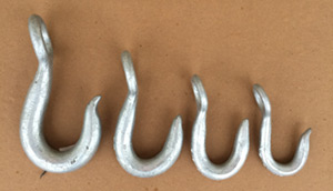 Galvanized Reverse Eye Hooks
